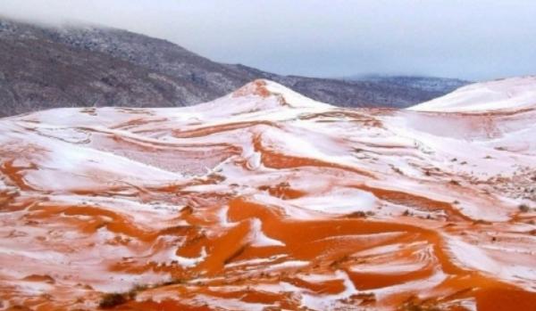 A nins în Deşertul Sahara, cel mai fierbinte loc de pe planetă!